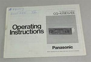 Operating Instructions  Owners Manual Panasonic Car Radio