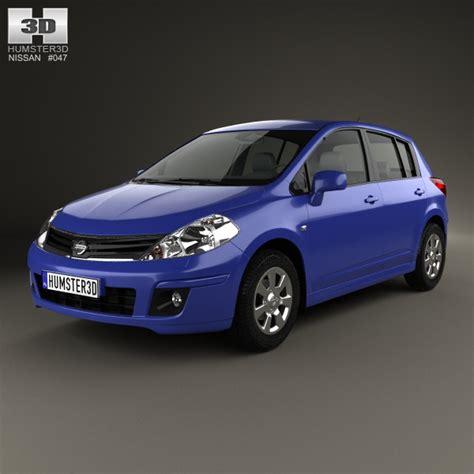 nissan tiida hatchback 2012 nissan tiida c11 hatchback 2012 3d model max obj 3ds