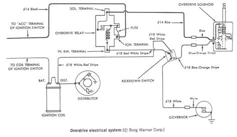 1955 Thunderbird Overdrive Wiring Diagram by Overdrive Not Working