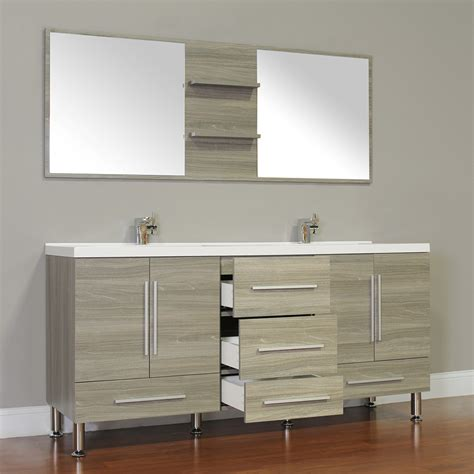 alya bath     double modern bathroom vanity gray