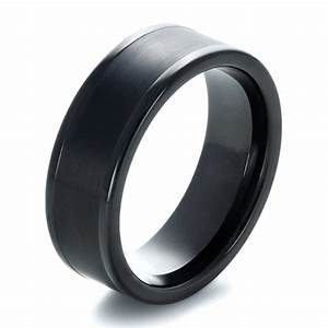 men39s brushed black tungsten ring 1360 With mens wedding rings black tungsten