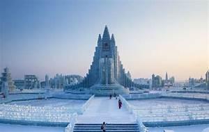 Un château entièrement en glace époustouflant en Chine