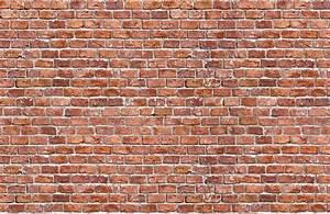 Rundown Red Brick Wallpaper Wall Mural