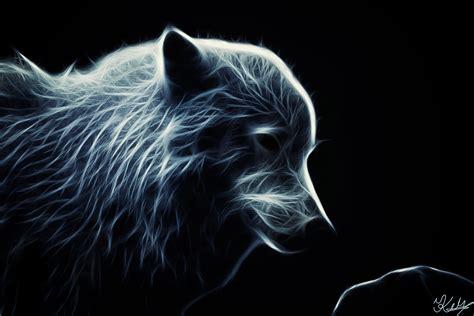 Glowing Animal Wallpaper - glowing artic wolf by plavidemon on deviantart