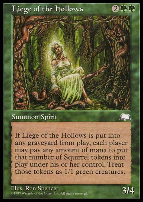 Squirrel Mtg Deck Builder by Liege Of The Hollows Mtg Card