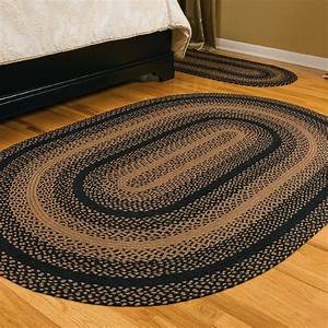 """IHF Home Decor 36"""" x 60"""" Country Style Braided Oval Accent"""