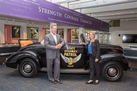 arnold schwarzenegger visits ohio state highway patrol