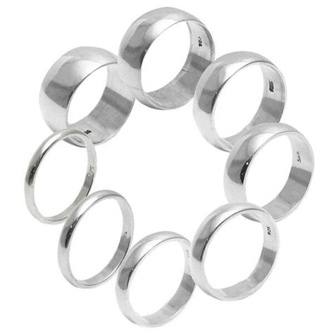 925 sterling silver plain wedding band ring all sizes ebay