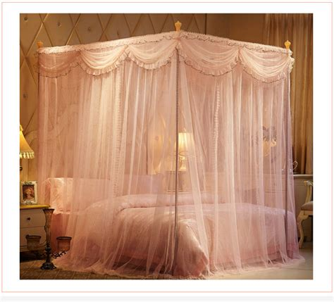 king size bed canopy drape bedroom canopy bed curtain frames palace anti mosquito net