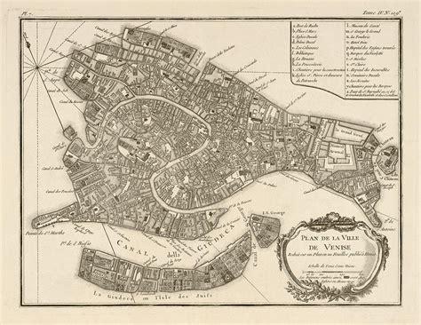 antique map  venice italy  jacques nicolas bellin