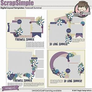 scrapsimple digital layout templates farewell summer With farewell scrapbook template