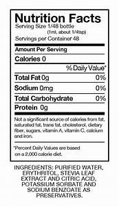 Image Gallery stevia nutrtion