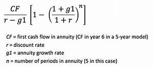 Formula For Annuity How To Model Multi Stage Terminal Values The Marquee Group