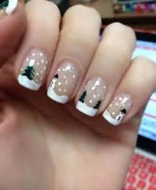 French nail winter art styling
