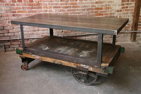 Vintage Industrial Factory Carts Wheels