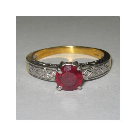 cincin silver ukir etnis permata ruby untuk mempelai pria