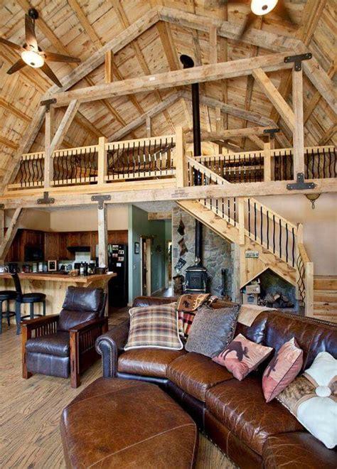 open concept rustic home gambrel barn barn house plans building  house