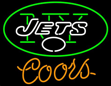 Coors Light Nfl New York Jets Neon Sign Neon