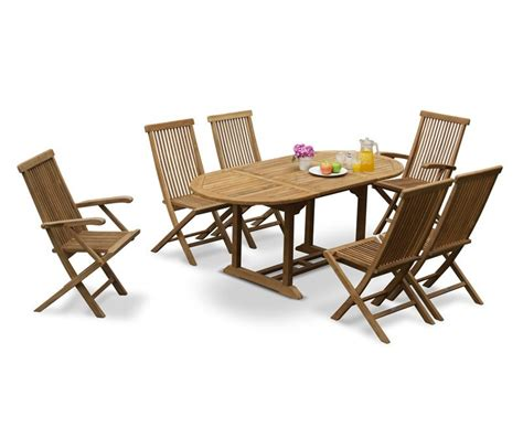 Patio Dining Chairs Set Of 6 by Brompton Outdoor Extending Garden Table And 6 Chairs