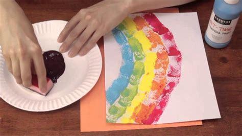 sponge printing  kindergarten art activities crafts