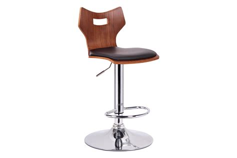 Kaysa Black Aluminum Modern Bar Stool