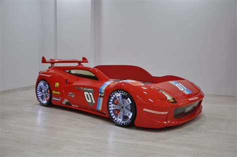 Thunder Red Race Car Bed | Racing Car Beds with LED Lights | Race car bed, Car bed, Red race