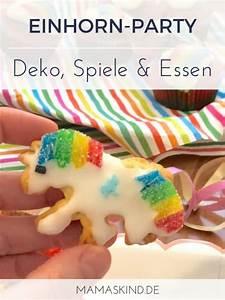 Kindergeburtstag 10 Jahre Mädchen : regenbogen einhorn geburtstag deko spiele kuchen mamaskind ~ Frokenaadalensverden.com Haus und Dekorationen