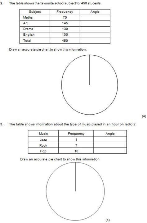 pie chart worksheet math pie best free printable worksheets