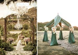 wedding ceremony decor altars canopies arbors arches and chuppahs belle the magazine