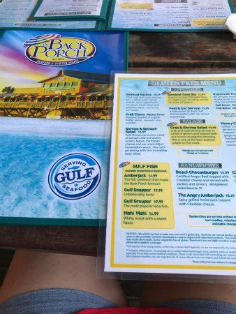 back porch destin menu the back porch destin menu prices restaurant reviews