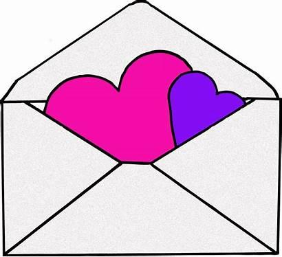 Envelope Clipart Cliparts Pink Transparent Clip Valentine