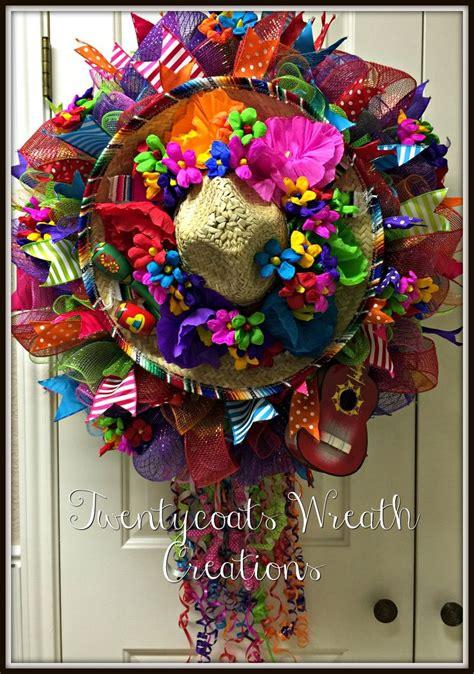 san antonio  fiesta wreath   deco mesh burlap