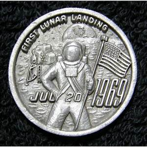 Apollo 11 Commemorative Coin - Pics about space