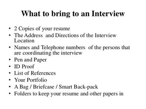 Bring Resume To by Winning
