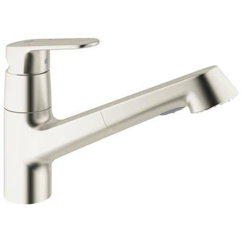 kitchen faucet grohe grohe 32946dc2 europlus super steel pullout spray kitchen faucets efaucets com