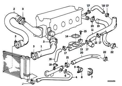 Bmw E30 Part Diagram by Original Parts For E30 318i M40 Cabrio Engine Cooling