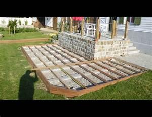 terrasse bois construire With construire terrasse en bois