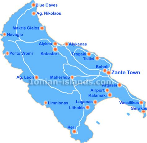 zakynthos greece zante map