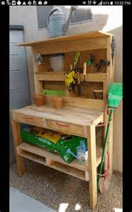 pallet garden potting bench pallet ideas 1001 pallets