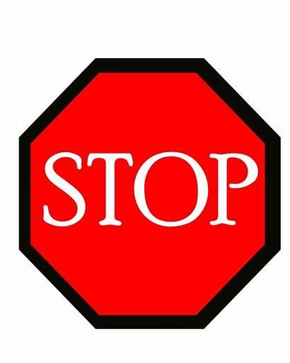 Stop Sign Illustration Outline Domain Clipart Clip