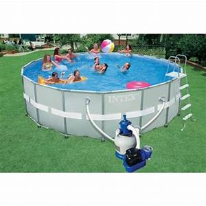 Dimension Piscine Hors Sol : une piscine intex hors sol dans votre jardin ~ Melissatoandfro.com Idées de Décoration