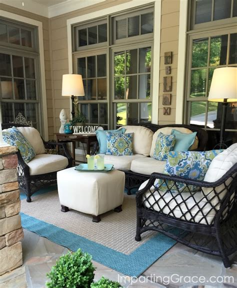 Outdoor Front Porch Furniture by Imparting Grace Front Porch Update And Tips For Choosing