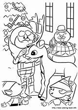 Coloring Rudolph Reindeer Pages Christmas Nosed Snowman Printable Adult Colouring Adults Abominable Sheets Books Info Rudolf Print Frosty Coloriage Winter sketch template