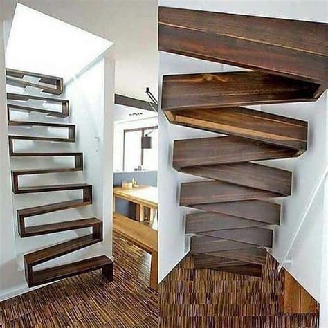 contoh model tangga unik desain interior terbaru foto