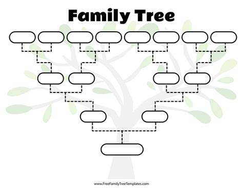 Family Will Template by Blank Family Tree Template Free Family Tree Templates