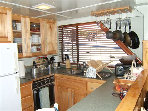 boat galley kitchen designs a realtor who lives on a houseboat mcenearney 4853
