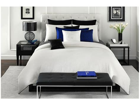 vince camuto milan king comforter mini set white shipped