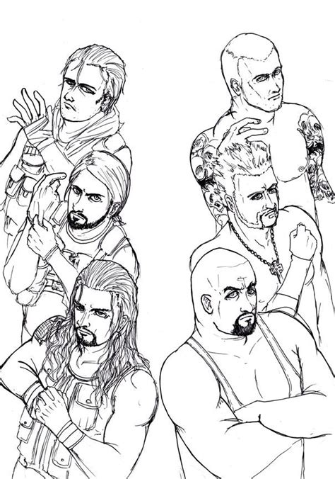 roman reigns coloring pages coloring home