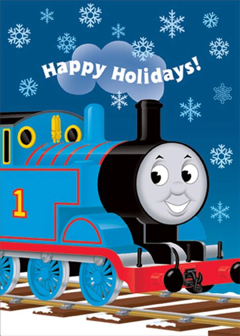 in snow 12 cards 12 envelopes the tank engine boxed cards from