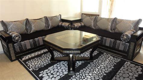 salon canape noir sedari marocain blanc chaios com